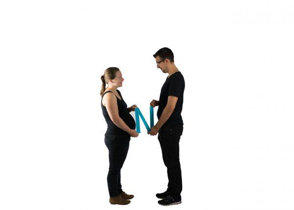 Werdende Mutter und Vater